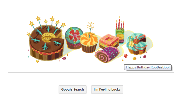 happy birthday roobeedoo from google 250515