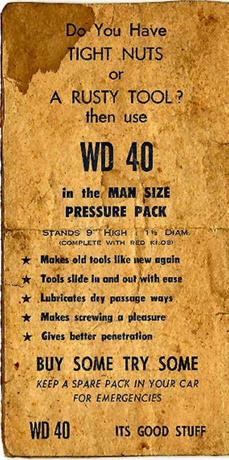 WD40 advert