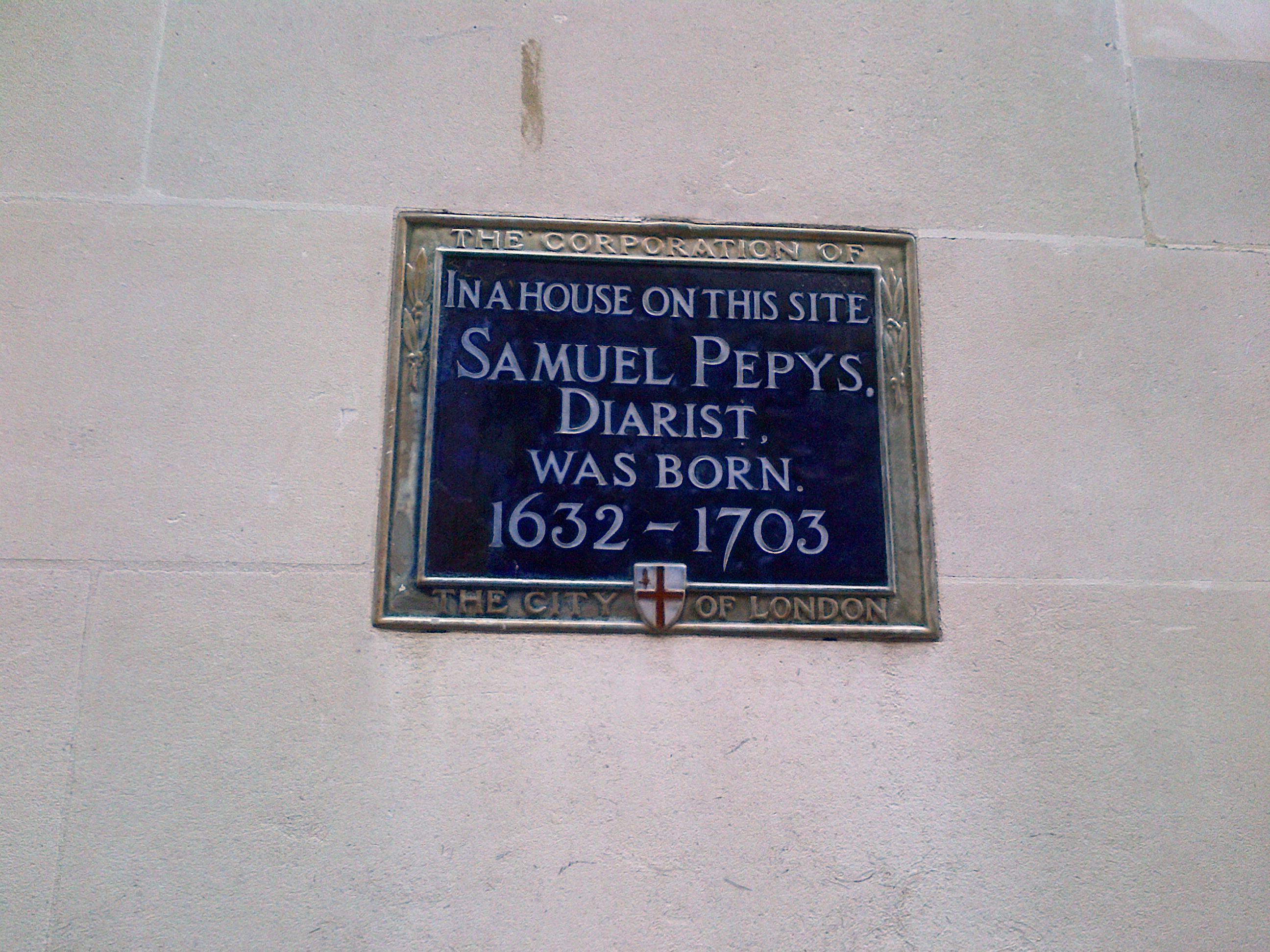 Samuel Pepys woz born ere