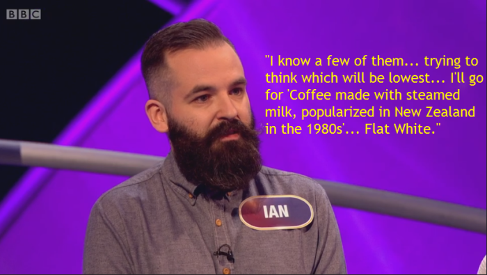 ian gives flat white answer