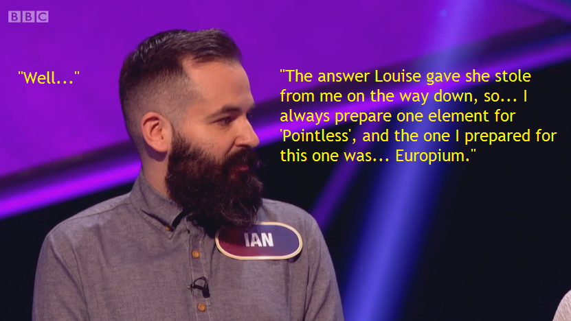 Louise stole Ian's answer