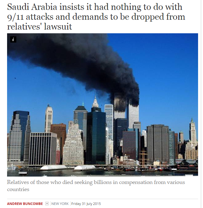 Saudi Arabia insists it had nothing to do with 911
