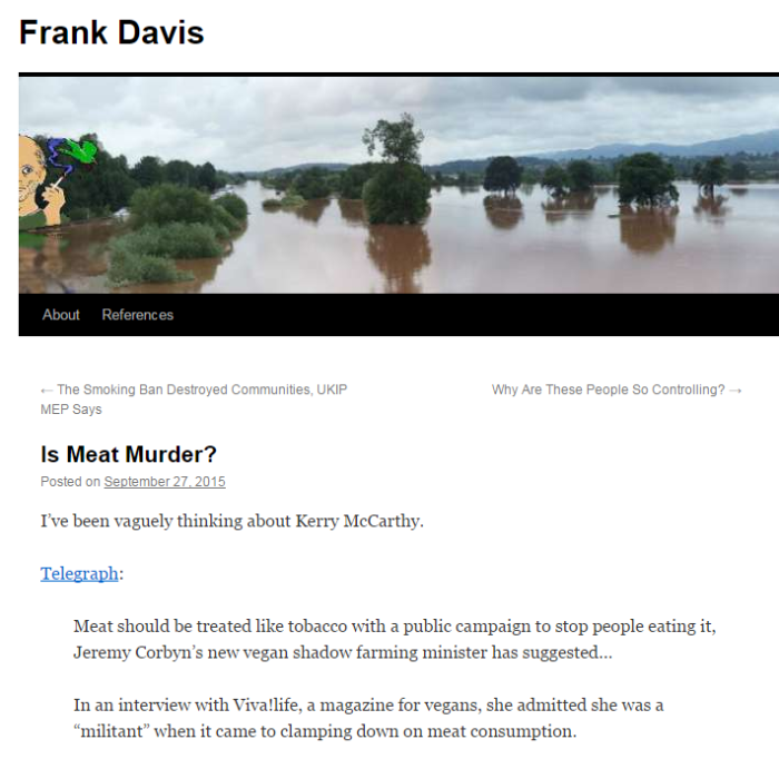 Frank Davis Is Meat Murder
