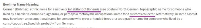 Boehmer etymology
