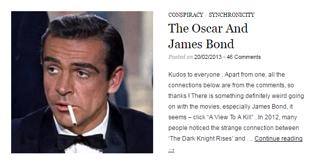 Merovee The Oscar and James Bond