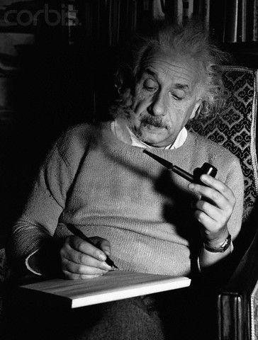 Einstein smoked
