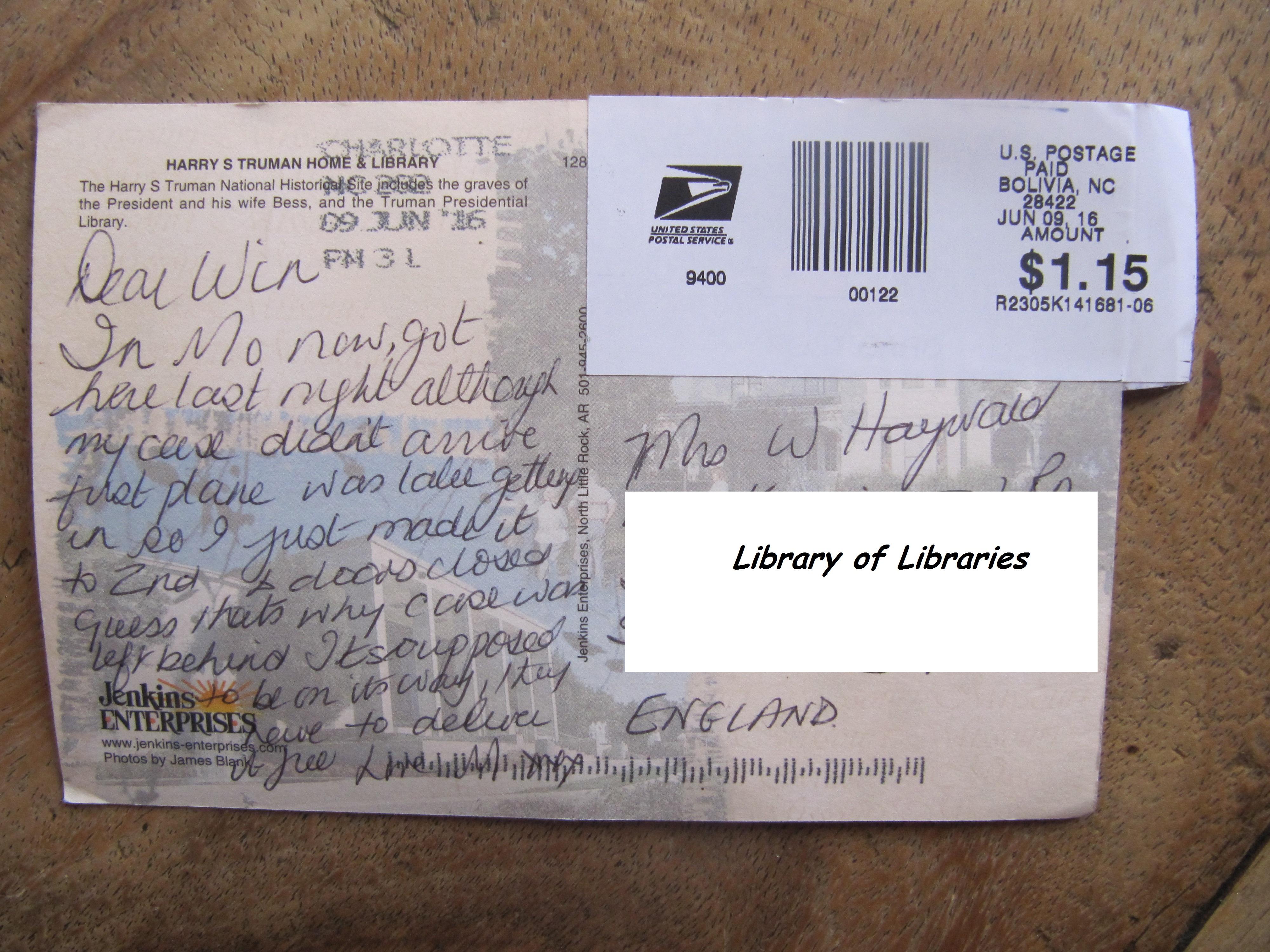 Missouri Postcard message