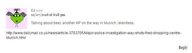 CJ brings news of Munich