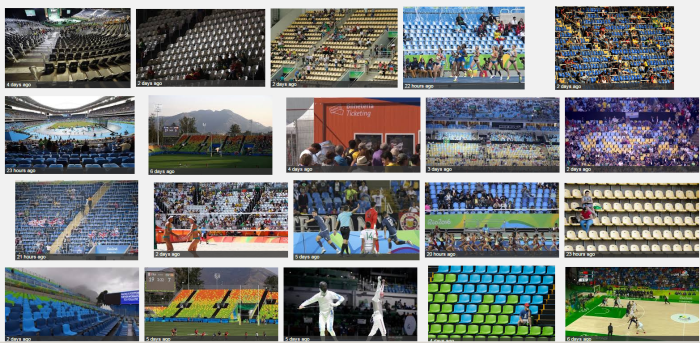 Rio Olympic seats
