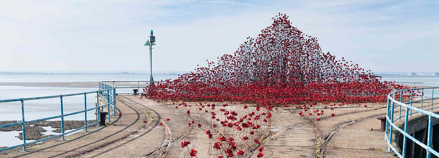 Iconic Poppy Sculpture Opens At Shoeburyness, Southend-on-Sea