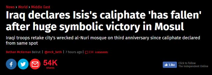 Isis falls