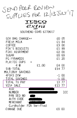 supplies receipt 13.77
