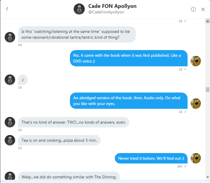 Cade and Roob DM convo 250817 2