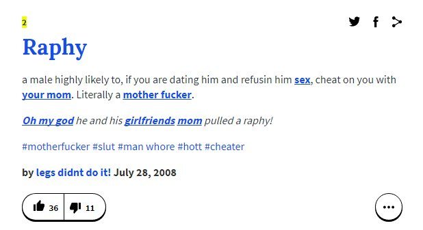 Raphy 2nd definition