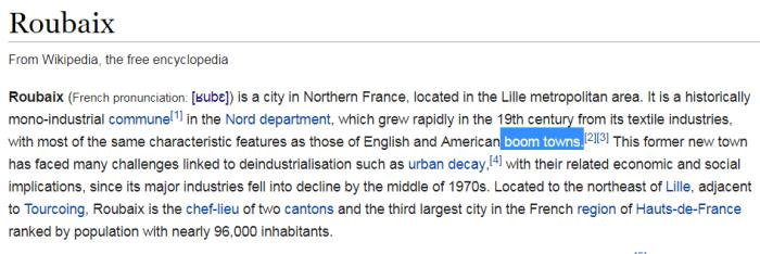 Roubaix boom town