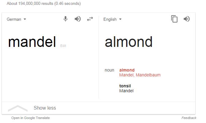 Mandel Almond Tonsil