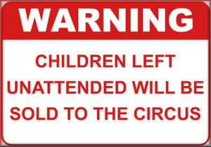 children warning