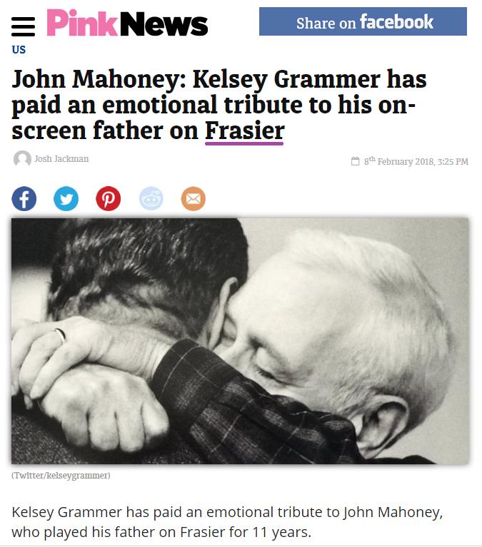 Pink News John Mahoney death