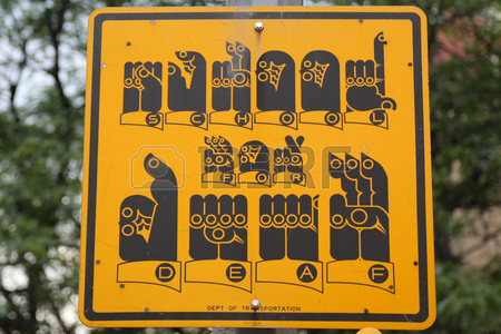 school for deaf street sign new york