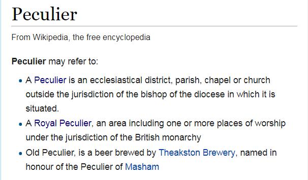 wiki peculier
