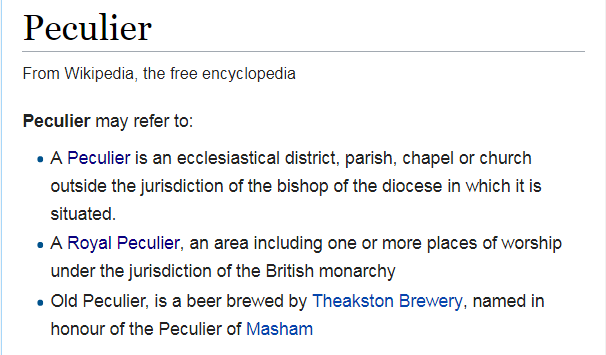 wiki peculier