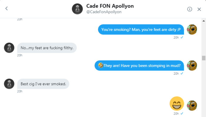 Cade shares the best cig hes ever smoked with Roob 1