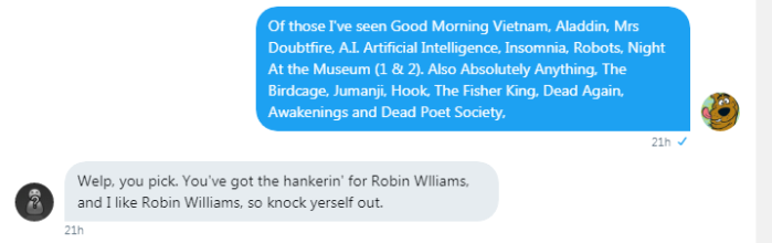 Roob and Cade indulged in a Robin Williams-fest 3