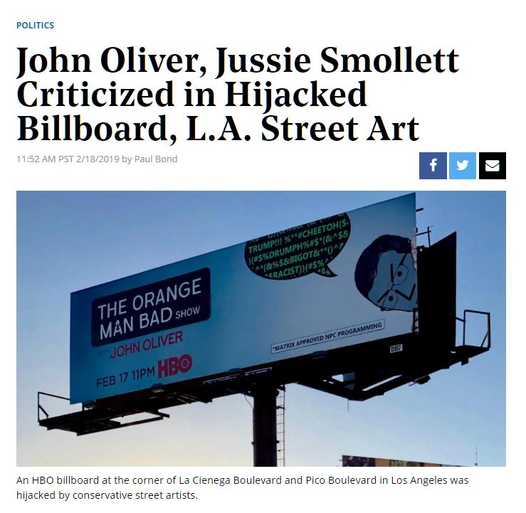 Hollywood Reporter Peak Swamp Billboard