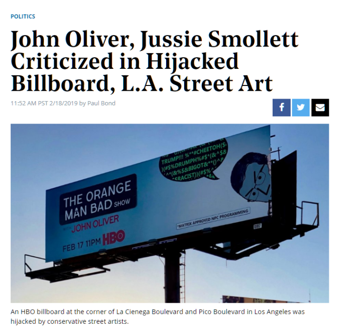 Hollywood Reporter Peak Swamp Billboard