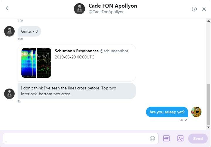 Cade sents Roob a Tweet
