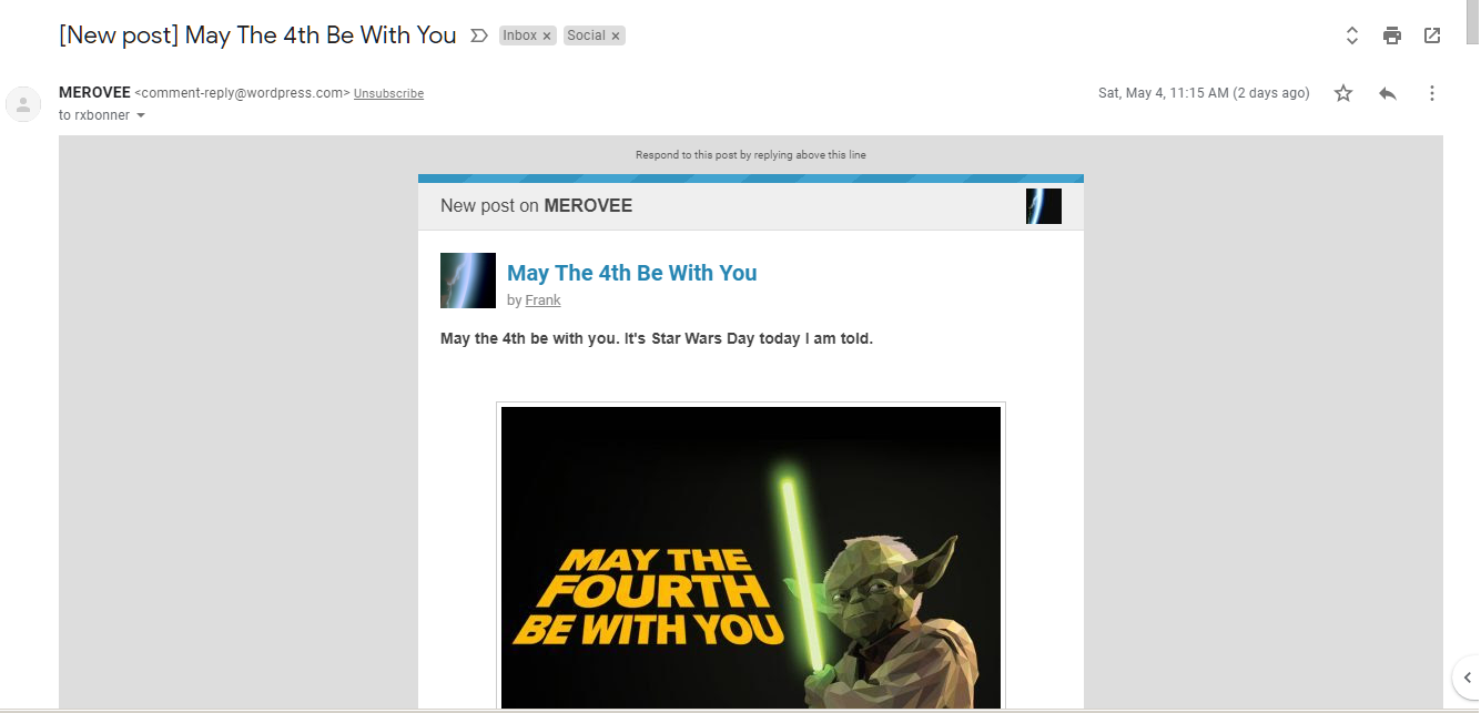 Merovee May For Fourth Be With You post notification 1