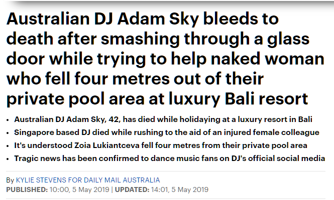 MOL Oz DJ 42 Adam Sky dies