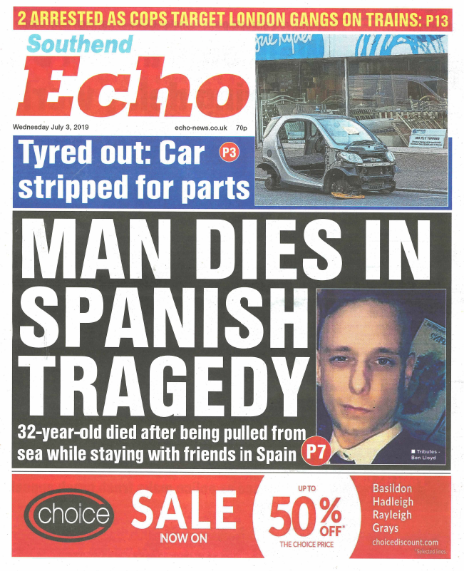 Echo front page 030719