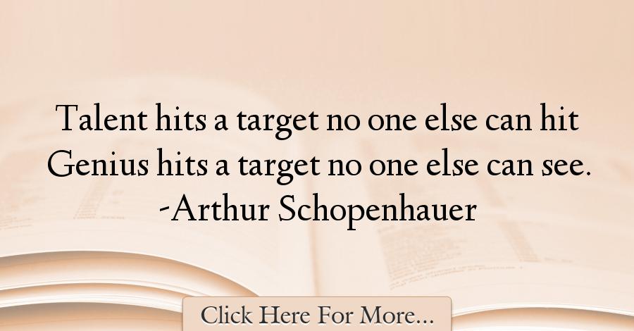 Arthur Schopenhauer Genius Quote
