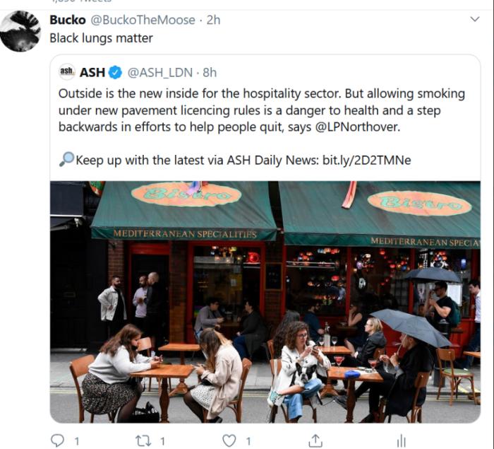 Black Lungs Matter Bucko Tweet